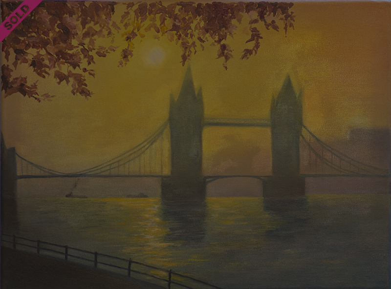 tower bridge in yellow 800 sold